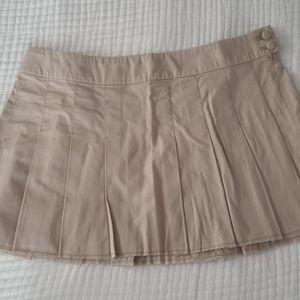 American Eagle Pleated Khaki Mini Skirt